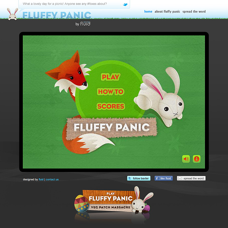 Fluffy Panic game title screen
