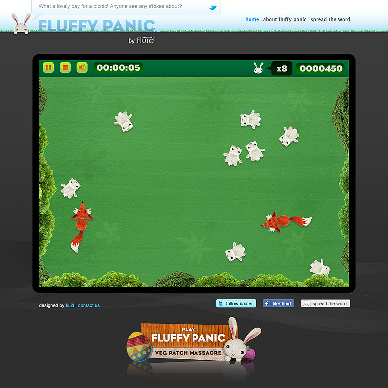 Fluffy Panic game screen