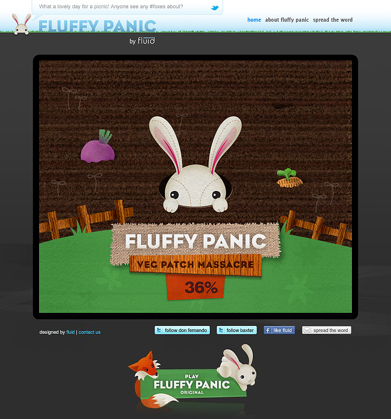 Fluffy Panic: Veg Patch loading screen
