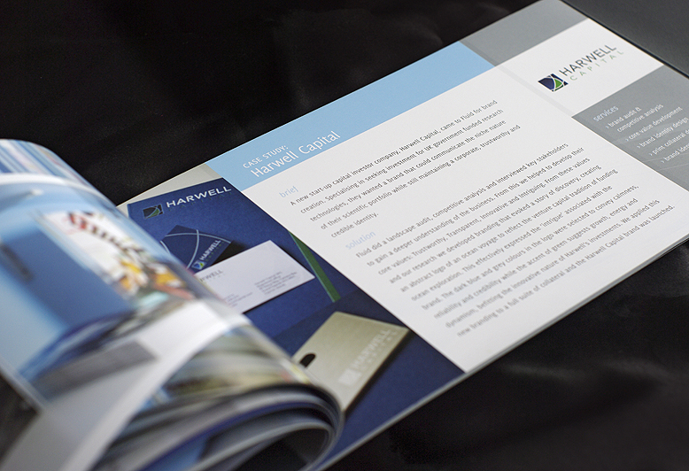 Fluid brochure case study page