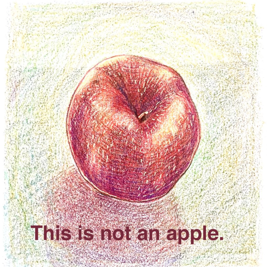 This is not an apple.
