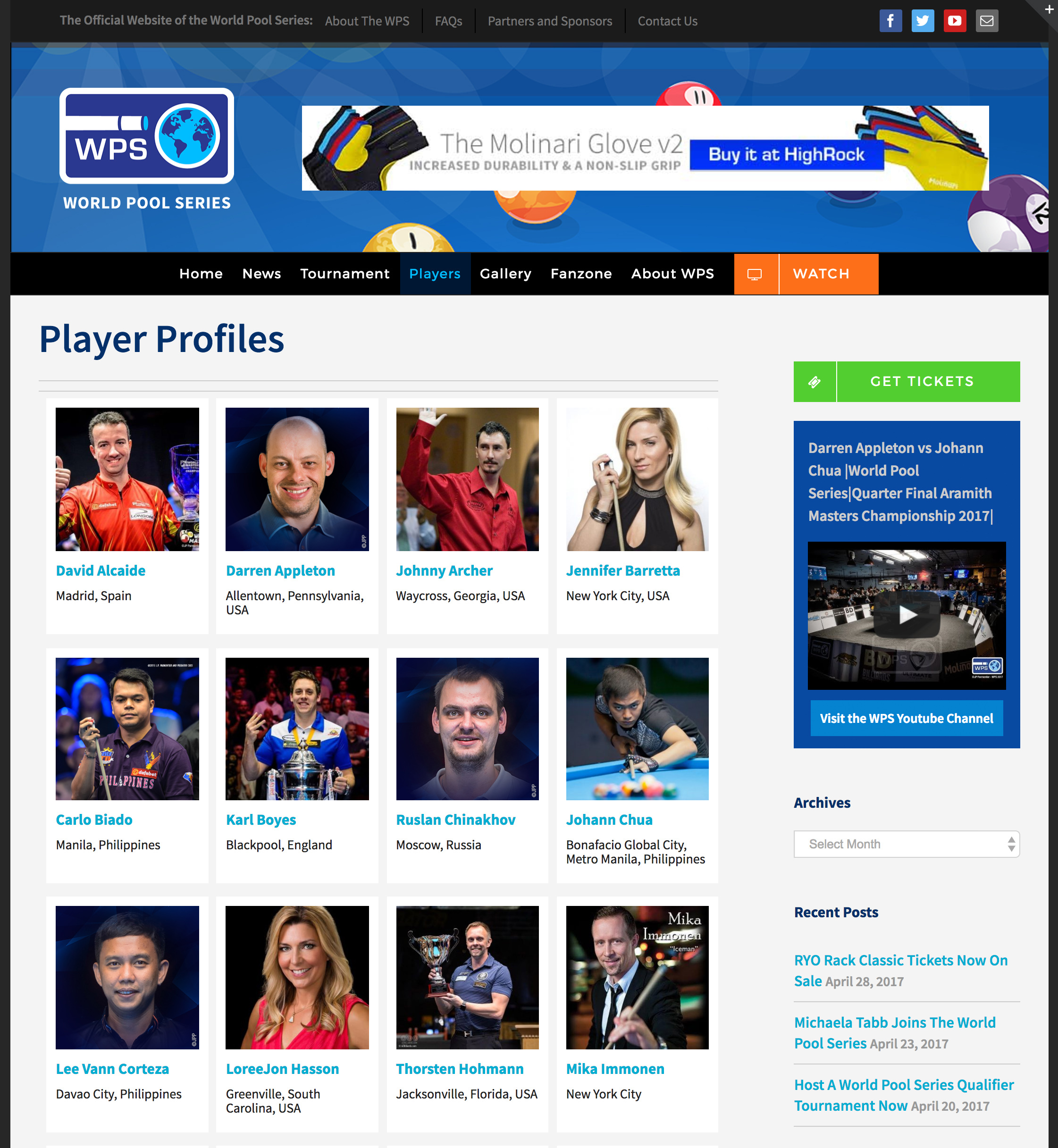 WPS player profiles